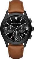 Michael Kors Gareth MK8450 Black Ion Plated Stainless Steel with Black Dial 43mm Mens Watch