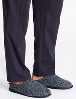Marks and Spencer Knitted Slip-on Mule Slippers with FreshfeetTM