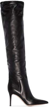 Gianvito Rossi 85mm Crinkle-Effect Heeled Boots