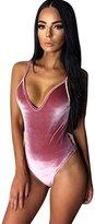 Imixshopcs High Cut Monokini Backless Swimsuit Swim Bikini Women Monokini (US 2=Tag M, )