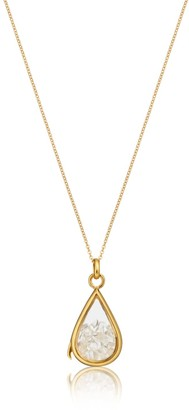 Lily & Roo Gold & Glass Clear Quartz Birthstone Locket