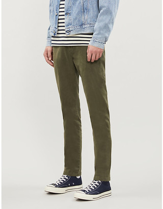 7 For All Mankind Slimmy Luxe slim stretch-cotton trousers