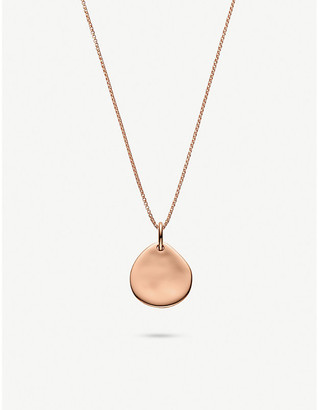 Monica Vinader Fine oval box 18ct rose gold-plated vermeil sterling silver chain