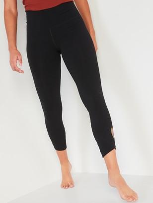 Old Navy High-Waisted Balance Keyhole-Leg 7/8-Length Leggings for Women
