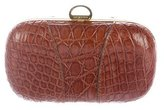 Sergio Rossi Crocodile Hard Clutch