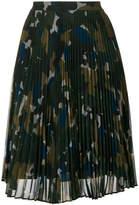 Paul Smith pleated camo skirt