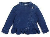 Splendid Girls' Denim Look Knit Jacket - Baby