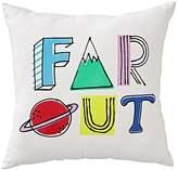 """Far Out"" Space Throw Pillow"