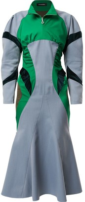 KIKO KOSTADINOV Colour-Block Flared Dress