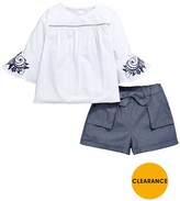Very Girls Smock Floral Print Sleeve Top And Shorts Set