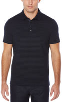 Perry Ellis Short Sleeve Striped Dot Polo