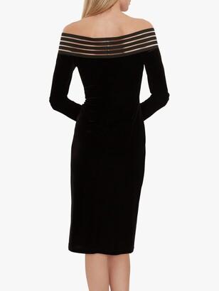Gina Bacconi Adaira Off The Shoulder Velvet Dress