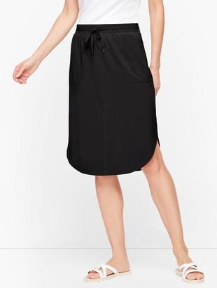 Talbots Lightweight Stretch Woven Midi Skirt