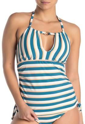 Athena Retro Stripe Halter Neck Tankini
