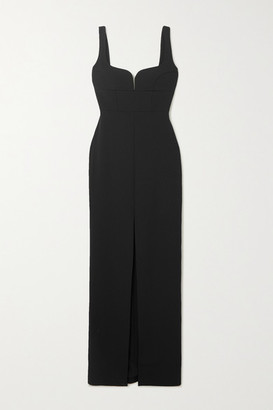 SOLACE London Linza Crepe Gown - Black