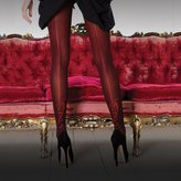 "Couture Womens/Ladies Vixen Brigitte Opaque Backseam Tights (1 Pair) (Large (42""-48""))"