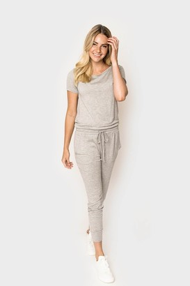 Gibson Hey Nasreen Off the Shoulder Knit Jumpsuit