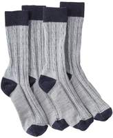 L.L. Bean L.L.Bean Casual Cable Socks, Women's 2-Pack