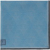 Reiss Reiss Bolt - Patterned Silk Pocket Square In Blue