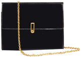 Alice + Olivia Black Alba Flap Clutch