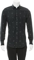 Dolce & Gabbana Gingham Floral-Embroidered Shirt w/ Tags
