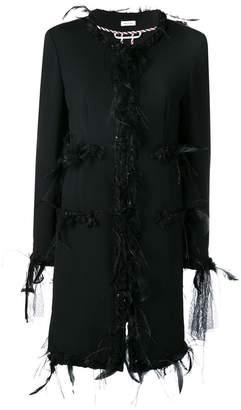 Thom Browne Appliqué Oversized Cardigan Overcoat