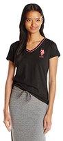 U.S. Polo Assn. Junior's Cotton Jersey V-Neck Big Logo T-Shirt