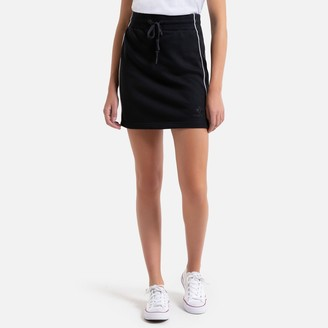 Converse Short Figure-Hugging Skirt with Drawstring in Cotton Mix