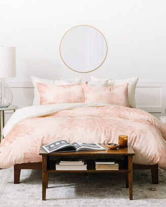 Deny Designs Iveta Abolina Beach Day Pink Duvet Cover Set