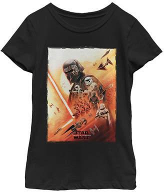 Star Wars Big Girls Kylo Ren Lightsaber Poster Short Sleeve T-Shirt