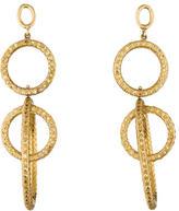 Faraone Mennella Topaz Circle Drop Clip-on Earrings
