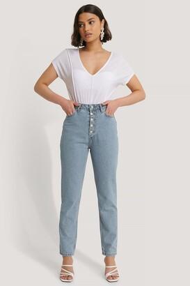 Trendyol Front Button High Waist Jeans