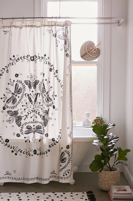Urban Outfitters Butterfly Print Shower Curtain