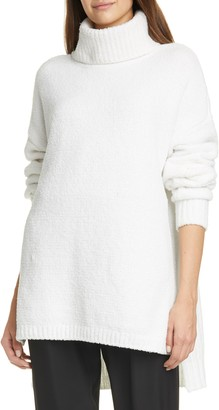 ATM Anthony Thomas Melillo Chenille Turtleneck High/Low Sweater