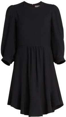 Chloé Puff-Sleeve Cady Dress
