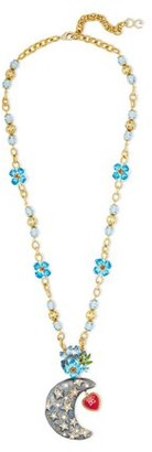 Dolce & Gabbana Gold-tone, Crystal, Bead And Enamel Necklace