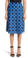 St. John Women's Aksana Geo Embroidered Mesh Skirt
