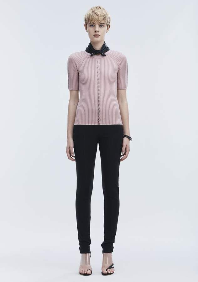 Alexander Wang PIERCED SHORT SLEEVE TOP TOP