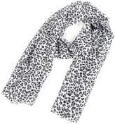 uxcell Leopard Print Chiffon Women Lady Dual-use Scarf Wrap Stole Shawl