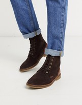 Barbour Mojave suede lace-up boots in dark brown