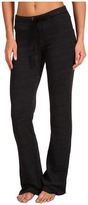 Splendid Heather Fleece Pants (Black) - Apparel