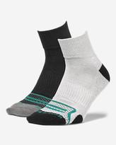 Eddie Bauer Men's Active Pro COOLMAX® Quarter Socks - 2 Pack