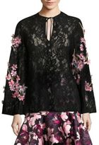 Romance Was Born Queen of the Night Cherry Blossom Silk Blouse