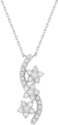 Lab Grown Diamond Cluster Necklace, 1/2 Ctw 10K Solid Gold by Smiling Rocks