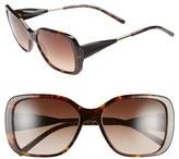 Burberry Women's 'Trench Knot' 56Mm Square Sunglasses - Dark Havana