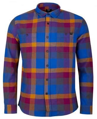 Edwin Heavy Labour Check Shirt Colour: DARK PURPLE, Size: SMALL
