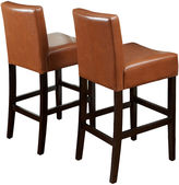 JCPenney Kirby Set of 2 Bonded Leather Barstools