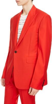 Givenchy Oversized Lapel Wool Jacket