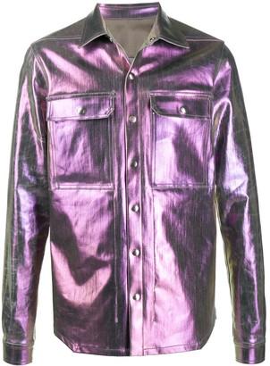 Rick Owens Iridescent-Effect Shirt Jacket