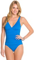 Tommy Bahama Pearl Solids V Neck Surplice One Piece Swimsuit 8125508